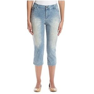 New  With Tags Piping Capri Shorts Jeans Pants